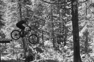 MTB Instruction jumps and drops mountain bike skills training