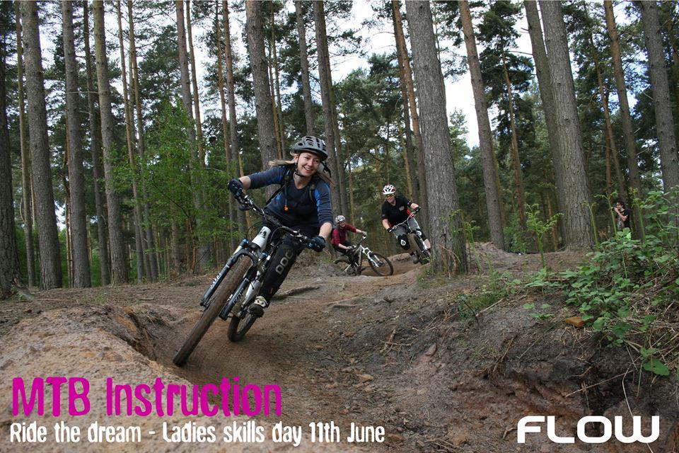 Ladies Introduction/intermediate skills/trail session sponsored by Flow MTB ladies MTB bike apparel Saturday 11th June